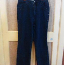 Jeans de iarnă High Rise albastru și negru