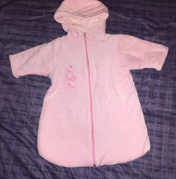 Envelope, jumpsuit For girls from 0-4 months