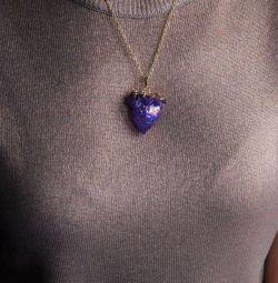 Pendant (pandantiv) cu cuarț purpuriu