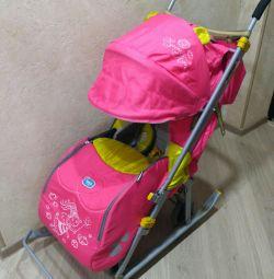 Stroller-sled Nick's children