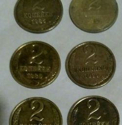 Coins of the USSR 2-3 kopeks (10 coins)