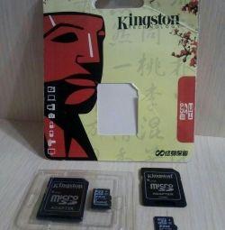 2 κομμάτια Κάρτες μνήμης kingston 64 gb