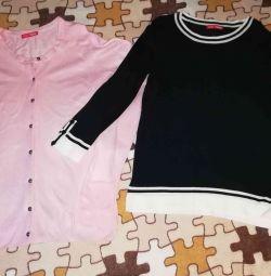 Două bluze de talie Firul nou și bu. 40-42
