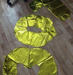 Шар цифра фольгированный шар