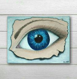 Oil painting eyes from the evil eye