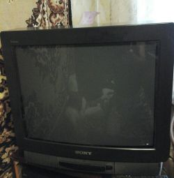 SONY 52 cm TV with a clean remote control.