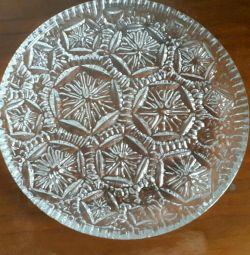 Κρυστάλλινο πιάτο. 28 cm
