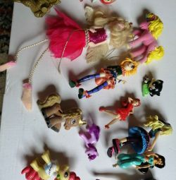 Toy package of dolls and Horses Fili and others