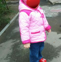 Куртка демисезонная на дев. 1-2,5г. modis, шапочка