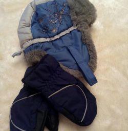 Зимова шапка + рукавиці