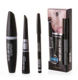 Σετ (μελάνι, eyeliner, μαύρο μολύβι)
