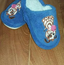 Slippers in the new condition