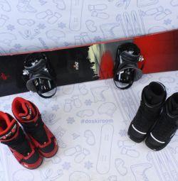 Snowboard Rossignol 165cm + bindings + boots
