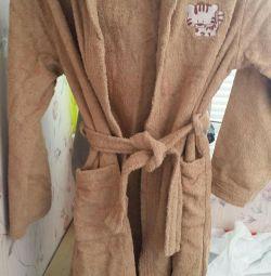 Банний махровий халат на 6-8 років