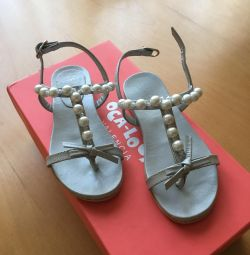 Children's sandals new 28 size Italy, leather