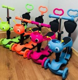 Scooter scooter for children 5 in 1 Music + Light