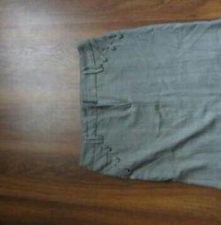 Gray classic skirt