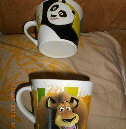 Circles disney magnet lion and panda
