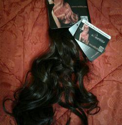 Пряди волос на резинке вокруг головы