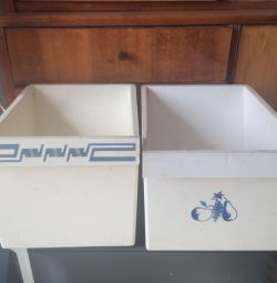 Boxes for the refrigerator of 3 pieces