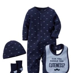 Carter's hat sleeping suit