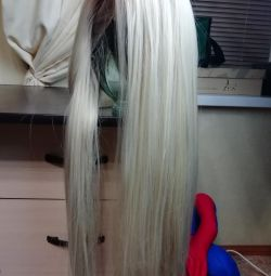 Natural hair wig, blond. New