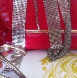 The belt is very beautiful like Swarovski