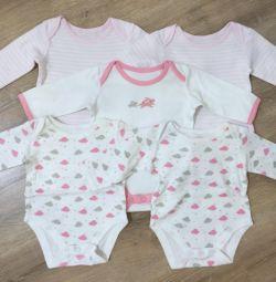 Σετ 5 ατόμων Mothercare, μεγέθους 1-4 μηνών