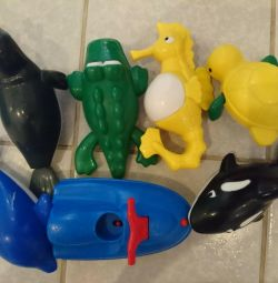 Игрушки для ванны заводные