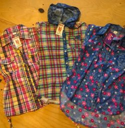 Рубашки девочкам на рост 122-128