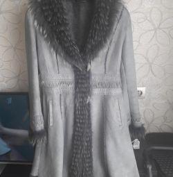Doğal koyun derisi ceket