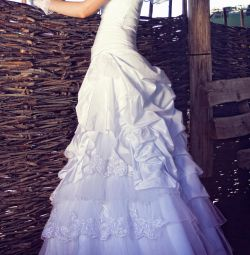 Wedding dress Godet (Mermaid, fish)