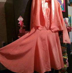 Φόρεμα + σακάκι Χρησιμοποιείται σατέν