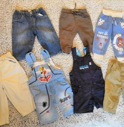 Trousers, jeans from 6 months to 1.5 years