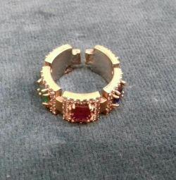 Кольцо серебро и натуральные камни