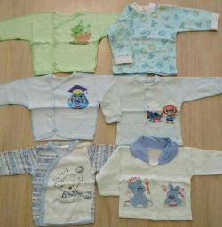 Sweatshirts - raspashchenki from 3 to 5 months