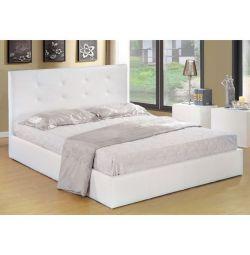 Κρεβάτι Gardenia με Αποθηκευτικό Χώρο σε Λευκό PU