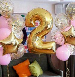 Doğum günü helyum balonları