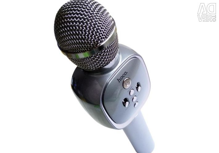 Wireless karaoke microphone Hoco BK4 Gray