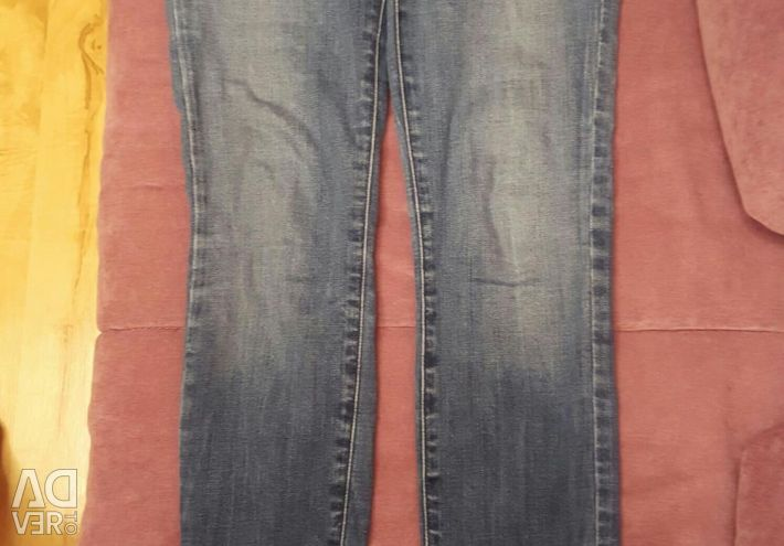 Colins Jeans with Stripe Flowers