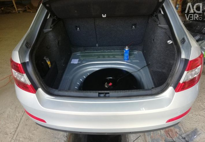 Gas cylinder equipment on the Skoda Rapid installation of HBO
