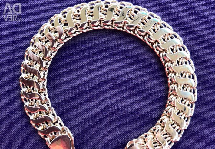 Bismarck's gold bracelet in two rows with overlays (