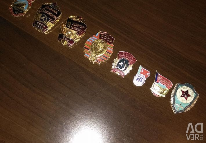USSR badge collection