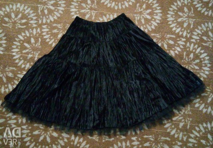 Βελούδινη φούστα 😃 Trend 2018!