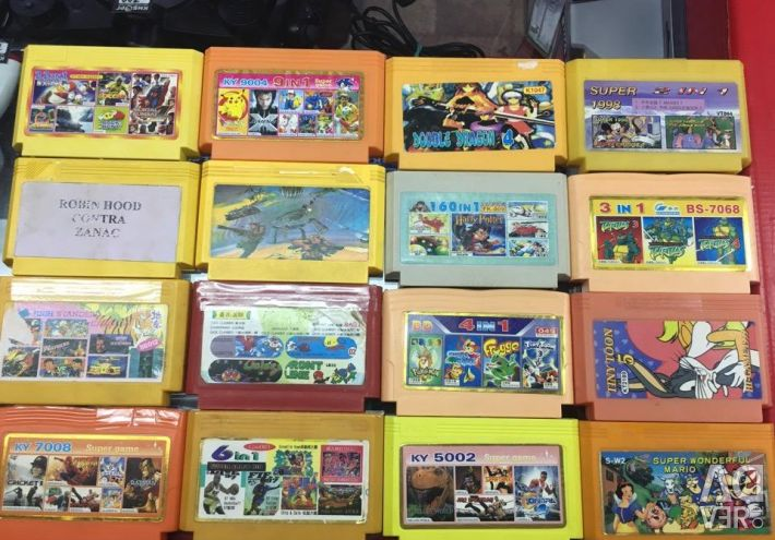 Dendy and Sega cartridges