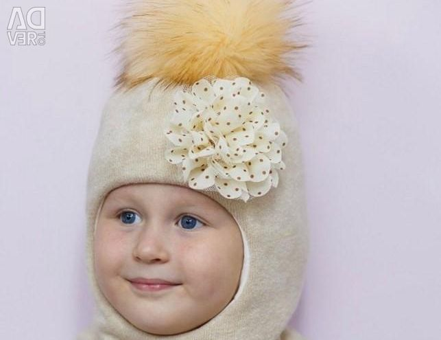 Winter hat-helmet with a new doll