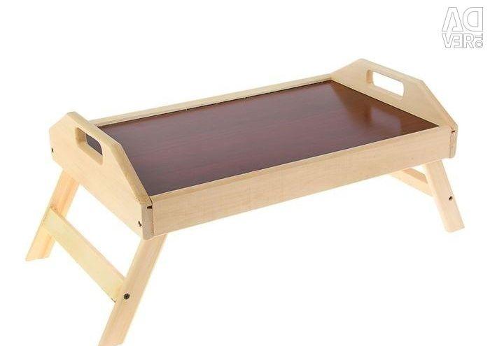 Folding breakfast table