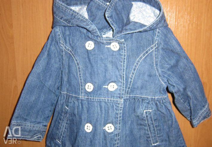 Denim jachetă 1-2 ani