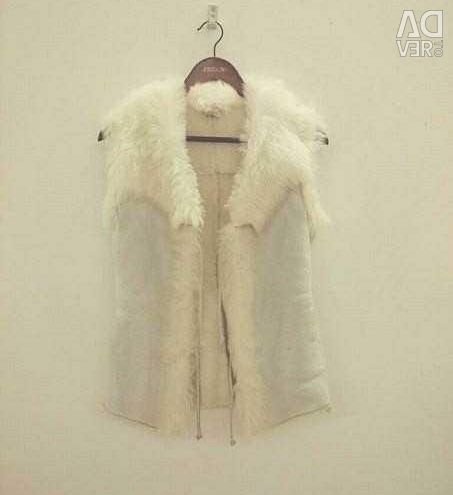 Sheepskin coat from goat
