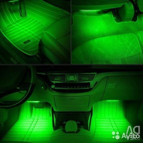 Φωτισμός εσωτερικού αυτοκινήτου - πράσινο